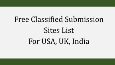 Free Classified Submission Sites List