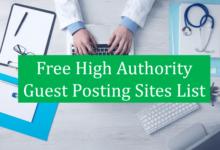 Free Guest Posting Sites List