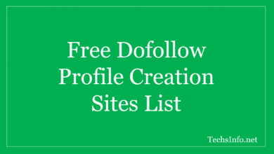 New Profile Creation Sites List
