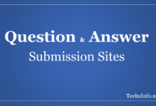 Questions Answers Submission Sites List